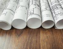 Architectural project, blueprints, blueprin Stock Photo