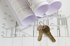 The architectural project Royalty Free Stock Photo