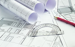 The architectural project Stock Photography
