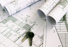 The architectural project Royalty Free Stock Image