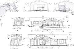 Architectural project of house Stock Photo