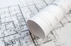 Architectural project Stock Photography
