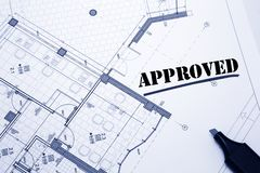 Architectural project Stock Photos