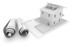 Architectural Project Plan Stock Photo