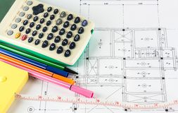 Architectural project Stock Image