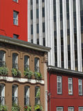Architectural quilt. Four buildings of different architectural styles in Halifax, Nova Scotia Royalty Free Stock Photos
