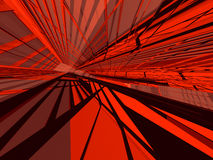 Architectural red. Dense contrasted 3d deconstruction background Royalty Free Stock Photography