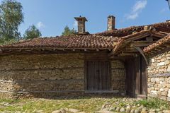 Architectural reserve of Zheravna with nineteenth century houses, Bulgaria. Architectural reserve of Zheravna with nineteenth century houses, Sliven Region royalty free stock photography