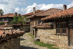Architectural reserve of Zheravna with nineteenth century houses, Bulgaria. Architectural reserve of Zheravna with nineteenth century houses, Sliven Region royalty free stock photo