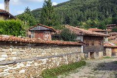 Architectural reserve of Zheravna with nineteenth century houses, Bulgaria. Architectural reserve of Zheravna with nineteenth century houses, Sliven Region stock photo