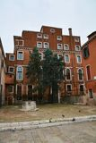 Architectural romantic view and yard in Venice, Italy Stock Photography