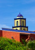 Architectural rooftops in Playa Las Americas in Teneriffe featuring tiled mosaic domes and terracotta tiles in retro Moorish style. And design. This beautiful Royalty Free Stock Photography