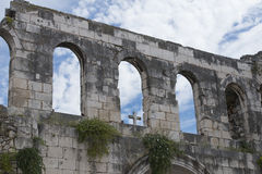 Architectural ruins of Croatia, Split, square Diocletian Royalty Free Stock Image