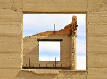Architectural Ruins in Ghost Town Stock Image