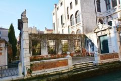 Architectural ruins in Venice, Italy Stock Photo