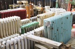 Architectural Salvage Yard. Old radiators at an architectural salvage yard Stock Images
