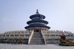 Temple of Heavenly Peace. Architectural shot of the temple of Heavenly Peace in Beijing, China stock image