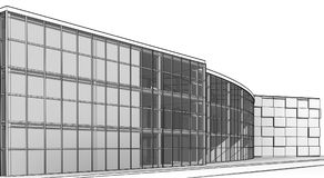 Architectural sketch build royalty free stock photography