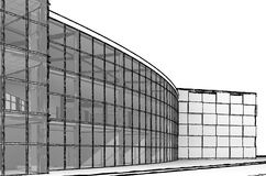 Architectural sketch build Royalty Free Stock Image