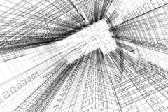 Architectural sketch of  building Stock Image