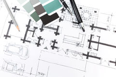 Architectural sketch Royalty Free Stock Images