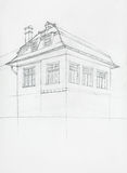 Architectural sketch of house Stock Image
