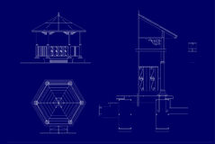 Architectural sketch of the Music Pavilion Stock Image