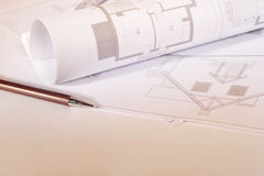 Architectural sketches Royalty Free Stock Images