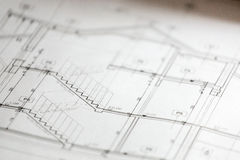 Architectural sketches of new house Royalty Free Stock Images