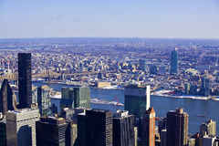 Architectural skyscrapers in New York City stock photography