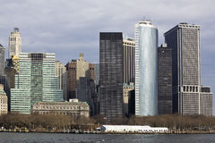 Architectural skyscrapers in New York City Stock Images