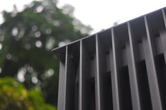 Architectural Steel Fins Stock Image