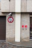Architectural street details in riga, latvia Stock Photos