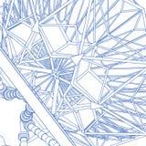 Architectural structure blueprint stock photos