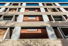 Architectural structure of minimalist building royalty free stock image