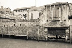 Architectural structures and constructions of old Venice Stock Images