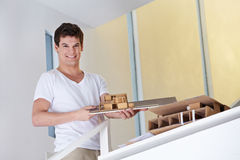 Architectural student showing Stock Photos