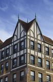 Architectural style 1. Tudor Revival architecture style building stock photos