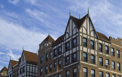 Architectural style 2. Tudor Revival architecture style building royalty free stock images