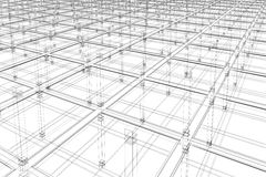 Architectural surface. 3D abstract - architectural infinite surface Royalty Free Illustration