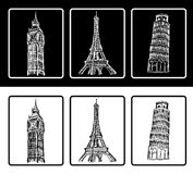 architectural symbols royalty free illustration