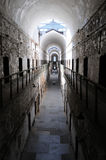 Architectural symmetry at the Eastern State Penitentiary. Former American prison in Philadelphia, PA.  The penitentiary refined the revolutionary system of Royalty Free Stock Image