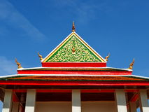 Architectural symmetry at Thai temple Royalty Free Stock Photography