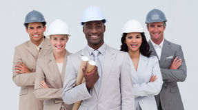 Architectural team smiling at the camera Royalty Free Stock Photo