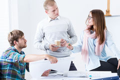 Architectural team working on project Stock Image