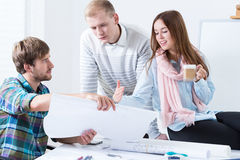 Architectural team working together Royalty Free Stock Photography