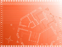 Architectural technical draw Stock Images
