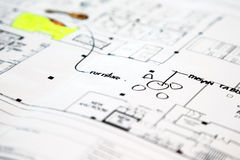 Architectural technical project drawing plan Royalty Free Stock Photos