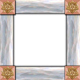 Architectural tile frame. Architectural elements & shell frame stock photography
