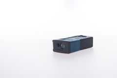 Architectural tool or laser rangefinder on a background. Architectural tool or laser rangefinder on a background Stock Photography